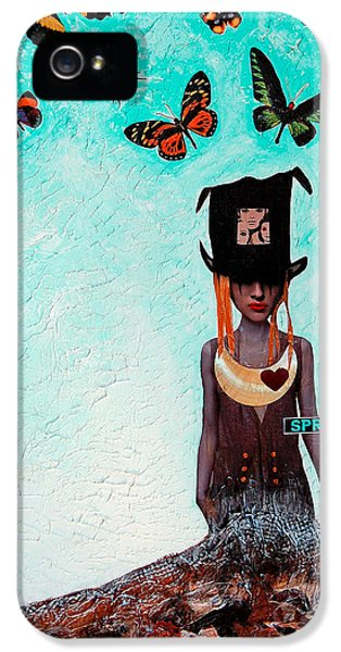Gay iPhone 5 Cases - Down The Rabbit Hole iPhone 5 Case by Sharon Cummings