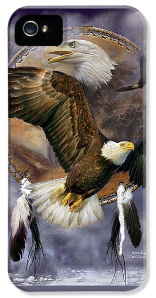 Prey iPhone 5 Cases - Dream Catcher - Spirit Eagle iPhone 5 Case by Carol Cavalaris