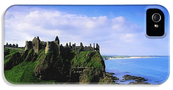 Archeology iPhone 5 Cases - Dunluce Castle, Co Antrim, Irish, 13th iPhone 5 Case by The Irish Image Collection