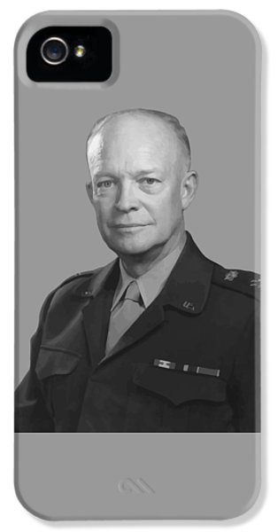 Memorial iPhone 5 Cases - Dwight D. Eisenhower  iPhone 5 Case by War Is Hell Store
