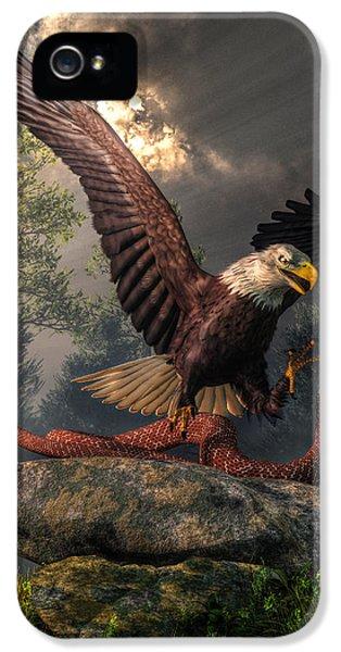 Gi iPhone 5 Cases - Eagle Vs Cobra iPhone 5 Case by Daniel Eskridge