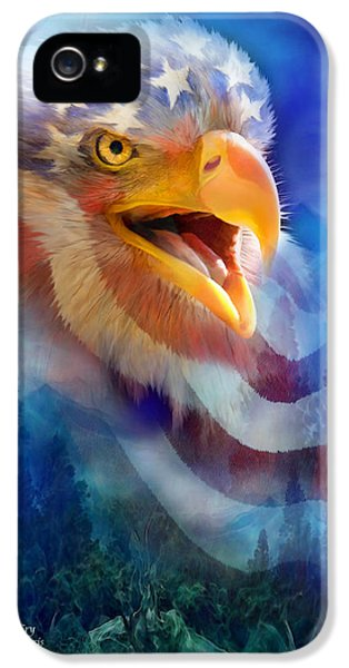 Eagle iPhone 5 Cases - Eagles Cry iPhone 5 Case by Carol Cavalaris