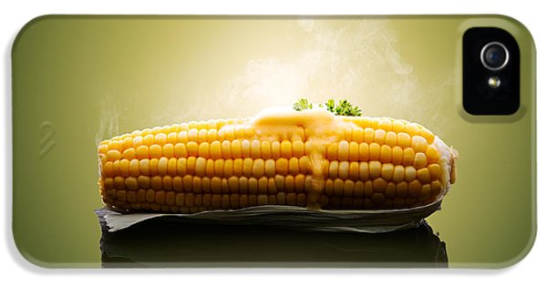 Reflective iPhone 5 Cases - Ear of Corn with hot melting butter iPhone 5 Case by Johan Swanepoel