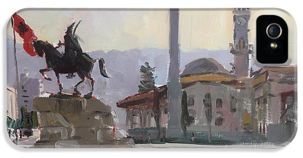 Monument iPhone 5 Cases - Early Morning In Tirana iPhone 5 Case by Ylli Haruni