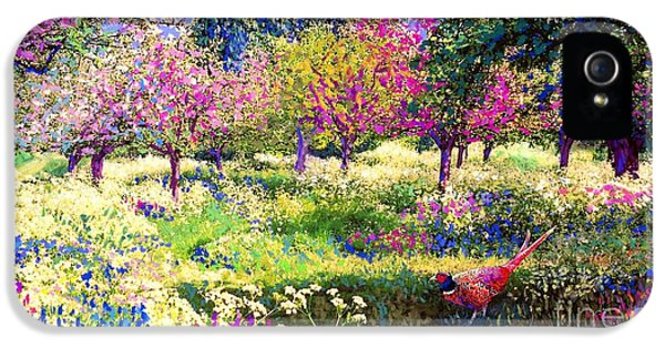 Echoes From Heaven, Spring Orchard Blossom And Pheasant IPhone 5 / 5s Case by Jane Small