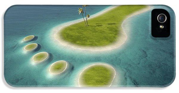 Eco Footprint Shaped Island IPhone 5 / 5s Case by Johan Swanepoel