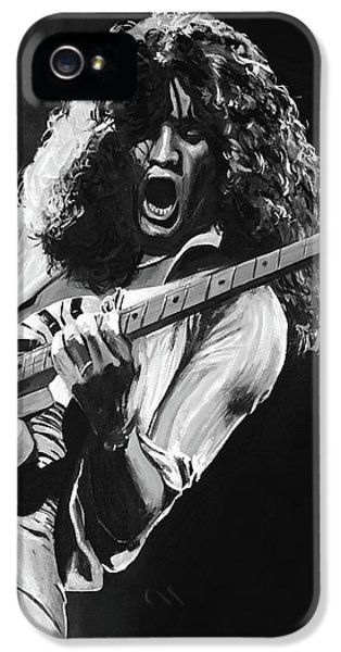 Eddie Van Halen - Black And White IPhone 5 / 5s Case by Tom Carlton