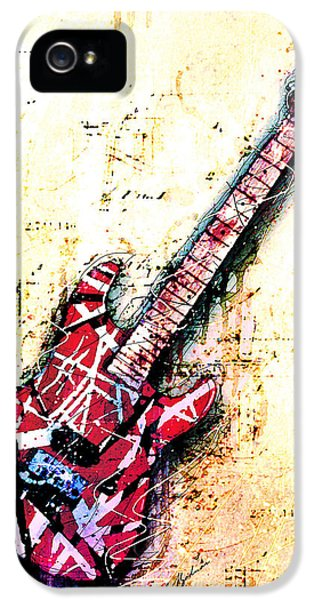 Eddie's Guitar Variation 07 IPhone 5 / 5s Case by Gary Bodnar