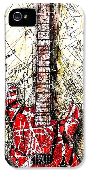 Eddie's Guitar Vert 1a IPhone 5 / 5s Case by Gary Bodnar