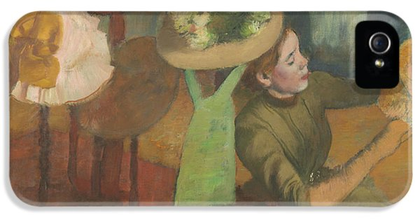 Milliner iPhone 5 Cases - The Millinery Shop iPhone 5 Case by Edgar Degas
