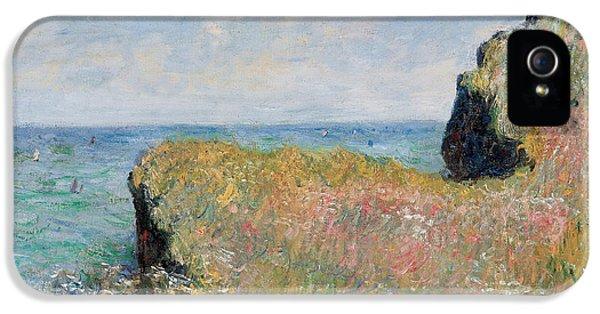 Edge Of The Cliff Pourville IPhone 5 / 5s Case by Claude Monet