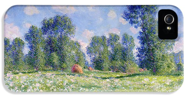 Meadow iPhone 5 Cases - Effect of Spring at Giverny iPhone 5 Case by Claude Monet