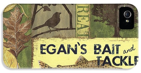 Camping iPhone 5 Cases - Egans Bait and Tackle Lodge iPhone 5 Case by Debbie DeWitt
