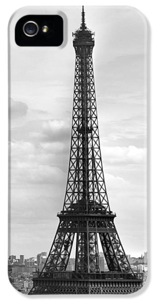Sight iPhone 5 Cases - Eiffel Tower BLACK AND WHITE iPhone 5 Case by Melanie Viola