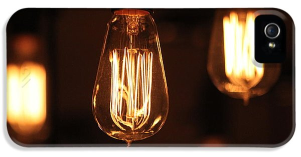 Filament (lightbulb) iPhone 5 Cases - Elemental iPhone 5 Case by Lauri Novak