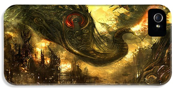 Sci Fi Art iPhone 5 Cases - Elephas Maximus iPhone 5 Case by Alex Ruiz