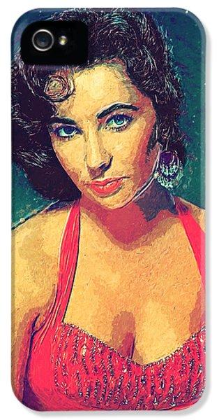 Elizabeth Taylor IPhone 5 / 5s Case by Taylan Apukovska