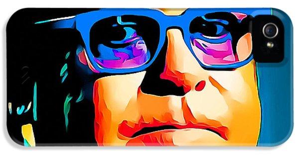 Elton John Blue Eyes Portrait IPhone 5 / 5s Case by Yury Malkov