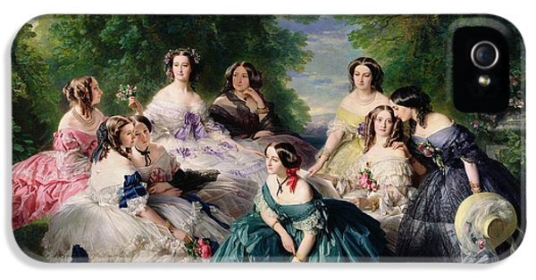 Empress Eugenie Surrounded By Her Ladies In Waiting IPhone 5 / 5s Case by Franz Xaver Winterhalter