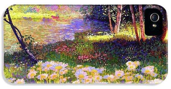Enchanted By Daisies, Modern Impressionism, Wildflowers, Silver Birch, Aspen IPhone 5 / 5s Case by Jane Small