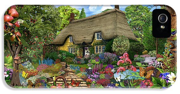 Allotment iPhone 5 Cases - English Cottage Garden iPhone 5 Case by Gerald Newton