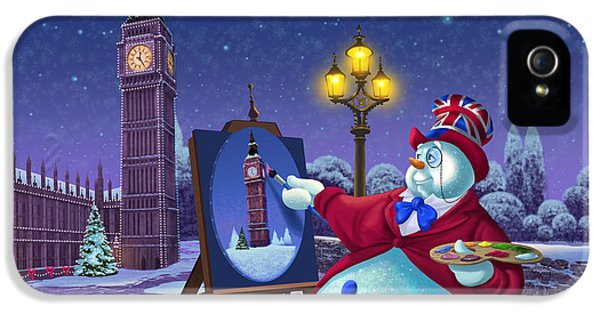 English Snowman IPhone 5 / 5s Case by Michael Humphries