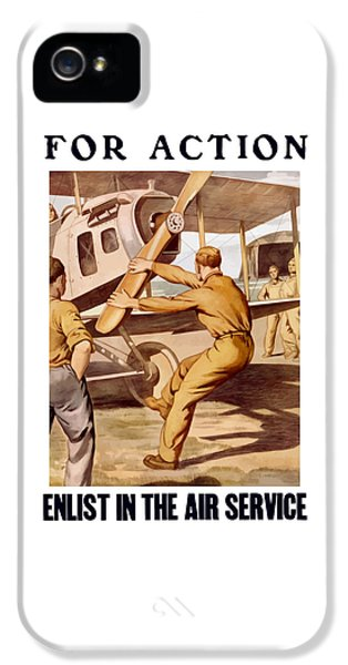 Air Force iPhone 5 Cases - Enlist In The Air Service iPhone 5 Case by War Is Hell Store