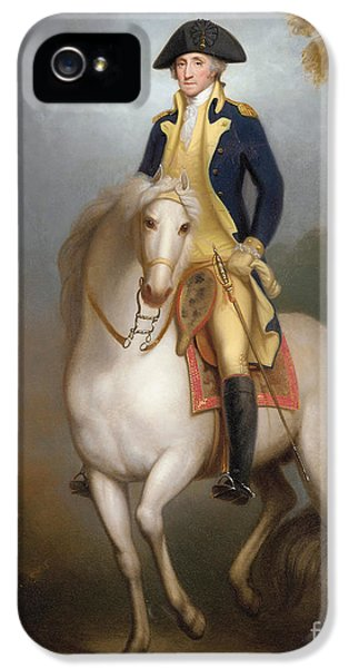 Equestrian Portrait Of George Washington IPhone 5 / 5s Case by Rembrandt Peale