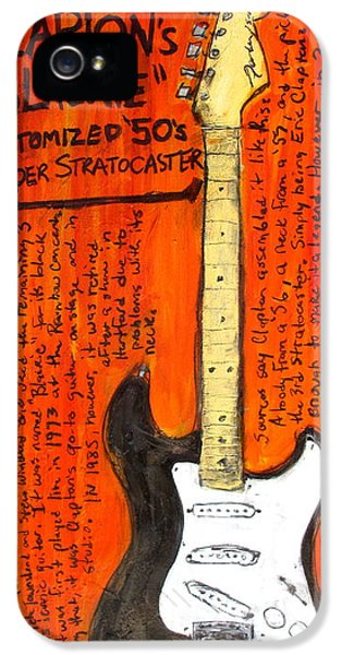 Eric Claptons Stratocaster Blackie IPhone 5 / 5s Case by Karl Haglund