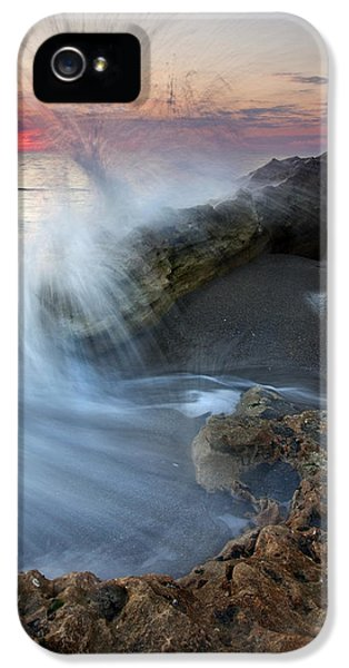 Blowing iPhone 5 Cases - Eruption at Dawn iPhone 5 Case by Mike  Dawson