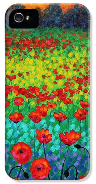 Evening Poppies IPhone 5 / 5s Case by John  Nolan