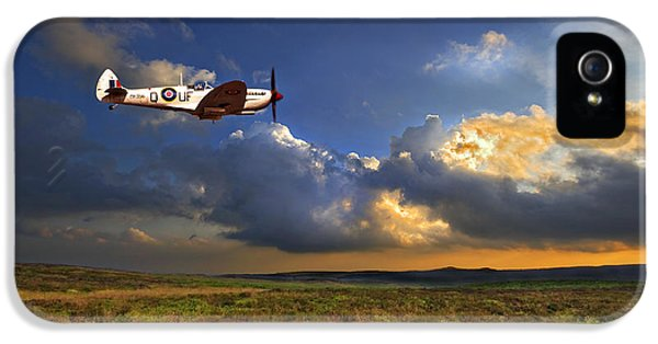 Air Force iPhone 5 Cases - Evening Spitfire iPhone 5 Case by Meirion Matthias