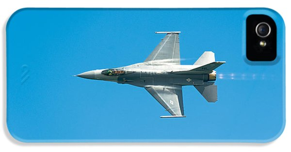 Plane iPhone 5 Cases - F-16 Full Speed iPhone 5 Case by Sebastian Musial