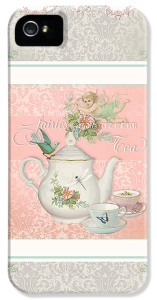Fairy Teacups - Tea Party For Two IPhone 5 / 5s Case by Audrey Jeanne Roberts
