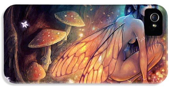 Fairies iPhone 5 Cases - Fairydust Nest iPhone 5 Case by Caroline Jamhour