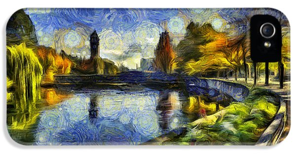 Clock iPhone 5 Cases - Fall in Riverfront Park Spokane iPhone 5 Case by Mark Kiver
