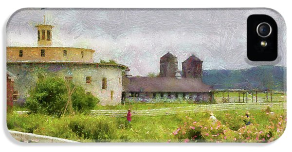 Farm - Barn - Farming Is Hard Work IPhone 5 / 5s Case by Mike Savad