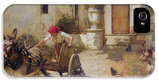 Farm Yard Scene IPhone 5 / 5s Case by Henry Herbert La Thangue