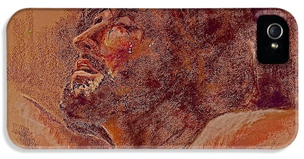 Burnt Umber iPhone 5 Cases - Father Forgive Them iPhone 5 Case by Reveille Kennedy