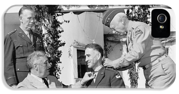 Honor iPhone 5 Cases - FDR Presenting Medal Of Honor To William Wilbur iPhone 5 Case by War Is Hell Store
