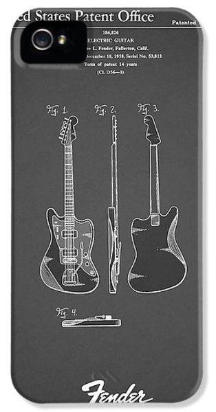 Music iPhone 5 Cases - Fender Electric Guitar 1959 iPhone 5 Case by Mark Rogan