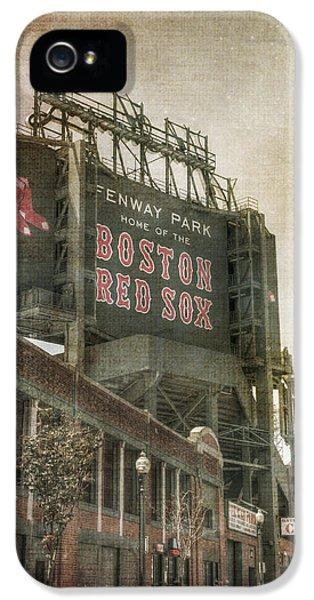 Fenway Park Billboard - Boston Red Sox IPhone 5 / 5s Case by Joann Vitali