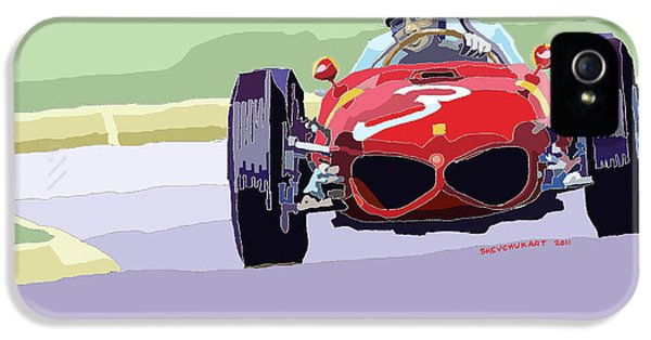 Automotive iPhone 5 Cases - Ferrari 156 Dino 1962 Dutch GP iPhone 5 Case by Yuriy  Shevchuk