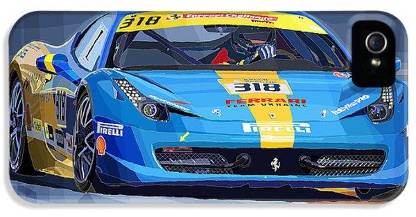 Ferrari 458 Challenge Team Ukraine 2012 Variant IPhone 5 / 5s Case by Yuriy Shevchuk