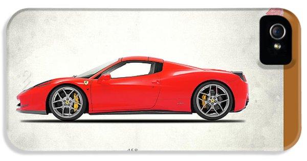 Car iPhone 5 Cases - Ferrari 458 Italia iPhone 5 Case by Mark Rogan