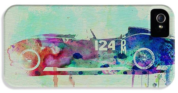 Ferrari iPhone 5 Cases - Ferrari Testa Rossa Watercolor 2 iPhone 5 Case by Naxart Studio