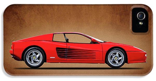 Ferrari iPhone 5 Cases - Ferrari Testarossa iPhone 5 Case by Mark Rogan