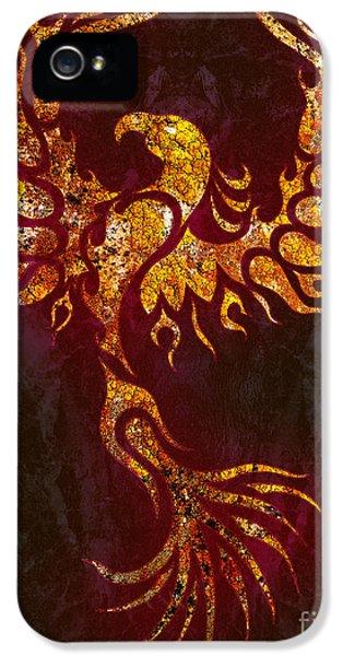 Phoenix iPhone 5 Cases - Fiery Phoenix iPhone 5 Case by Robert Ball