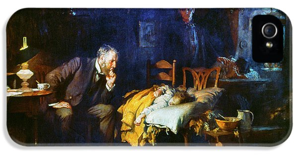 Illness iPhone 5 Cases - Fildes The Doctor 1891 iPhone 5 Case by Granger