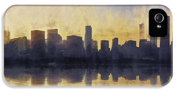 Fire In The Sky Chicago At Sunset IPhone 5 / 5s Case by Scott Norris